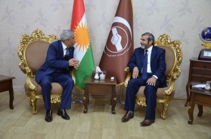 Secretary-General of the KIU receives a delegation of journalists from the northern Kurdistan
