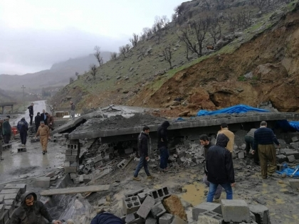 Rainfall causes a house collapse in Rania