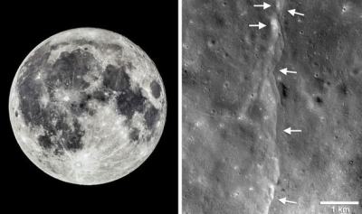 Quakes show that moon, gradually shrinking, is tectonically active