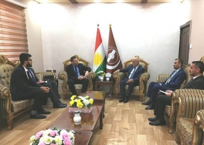 Kurdistan Islamic Union receives a delegation of the Belgian Embassy