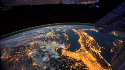 Footage of the Earth as seen from the ISS