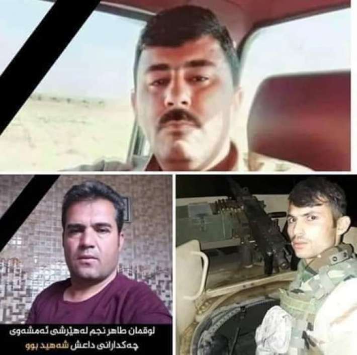 3 Peshmerga martyred in clashes with ISIS elements