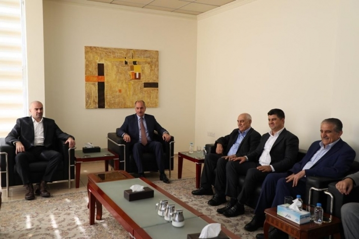 A delegation of the PUK visits the Change Movement in Sulaymaniyah