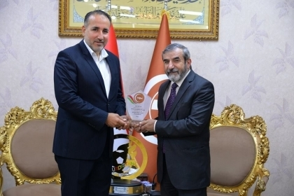 Secretary-General of the Kurdistan Islamic Union receives Aso Sports Club