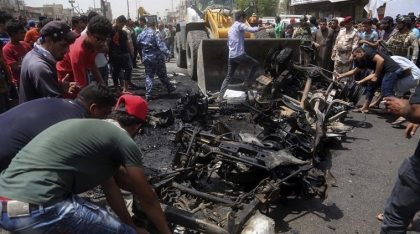 12 people dead as car bomb explodes in Baghdad