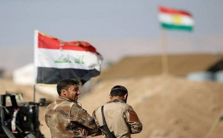 Peshmerga and the Iraqi army conduct a joint survey in the disputed areas