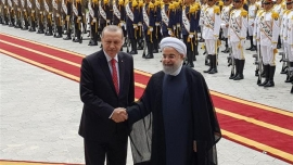 Turkish president arrives in Iran for official visit