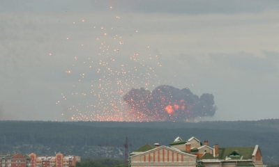 Five dead after explosions at two Russia military sites