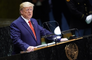 Trump, at the U.N., denounces Iran but says there is a path to peace