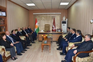 A delegation of PUK visits the Kurdistan Islamic Union in Sulaymaniyah