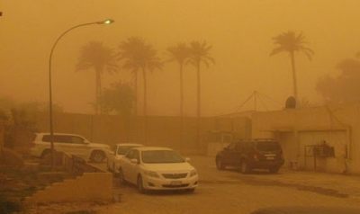 A sandstorm sweeping the cities of Iraq