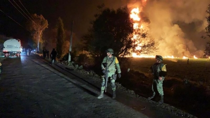 Dozens killed as oil pipeline explodes in Mexico's Tlahuelilpan