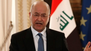 Iraqi president condemns attack on U.S. embassy