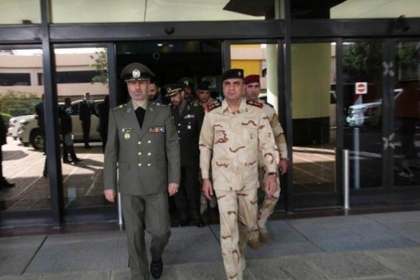 Iran defense minister in Baghdad