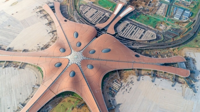 China unveils world's largest airport