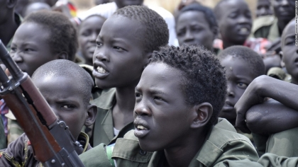 Over 200 child soldiers released in South Sudan