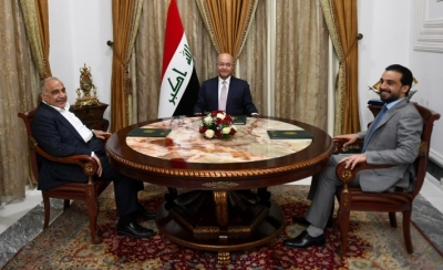 Meeting of the three presidencies on demonstrations in Iraq