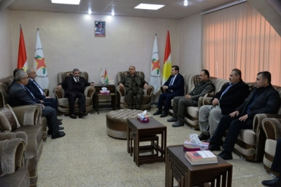 Kurdistan Islamic Union visits the Kurdistan Democratic National Union