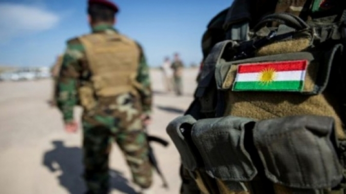 An officer of the Peshmerga Ministry injured