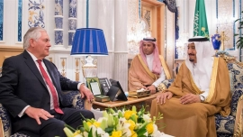 US foreign chief arrives in Saudi amid Gulf crisis