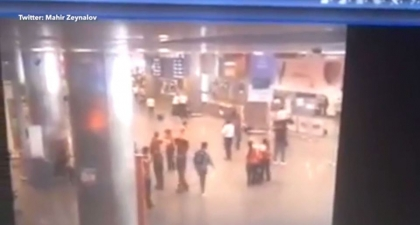 Moment blast goes off at Ataturk airport in Istanbul