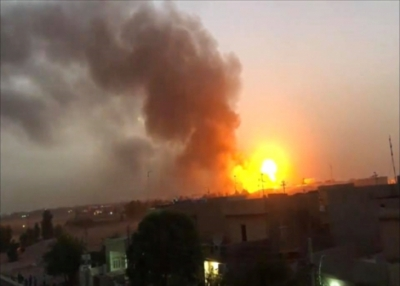 An arms depot explodes in Erbil