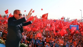 Huge rallies in Turkey mark failed 2016 coup