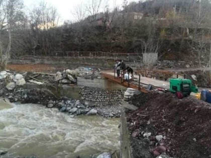 PKK is rebuilding a bridge in the Qandil area