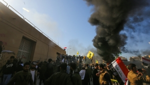 Protesters storm US Embassy in Baghdad in Iraq