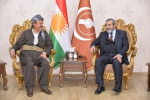 "Secretary-General of the Kurdistan Islamic Union receives the sons of ""Anwar Bek"""