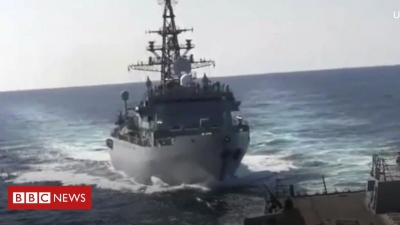 Russian and US warships almost collide