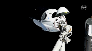 SpaceX's Crew Dragon capsule successfully docks with ISS