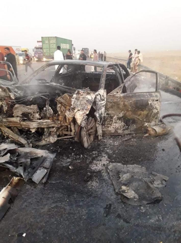 مصرع 8 أشخاص بحادث سير مروع جنوب العراق