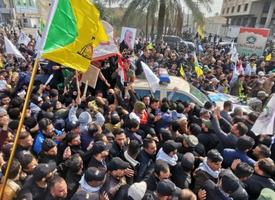 Tens of thousands march in Baghdad to mourn Soleimani