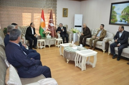 Sulaymaniyah ... Secretary-General of the Kurdistan Islamic Union meets with a number of intellectuals and journalists