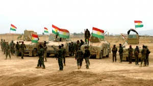 Peshmerga forces begin a military operation against ISIS in Garmian